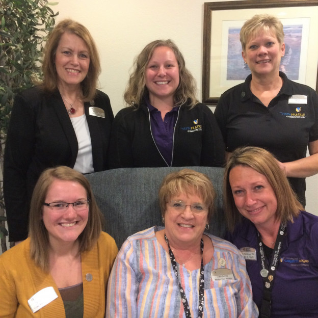 GG nurses - Marlys Skoblik, RN, Amber Demuth, LPN, Sandy Lund, LPN Bottom left to right Courtney Rohlik, RN, Lynn Buckley, LPN, and Jenn Panitzke, RN